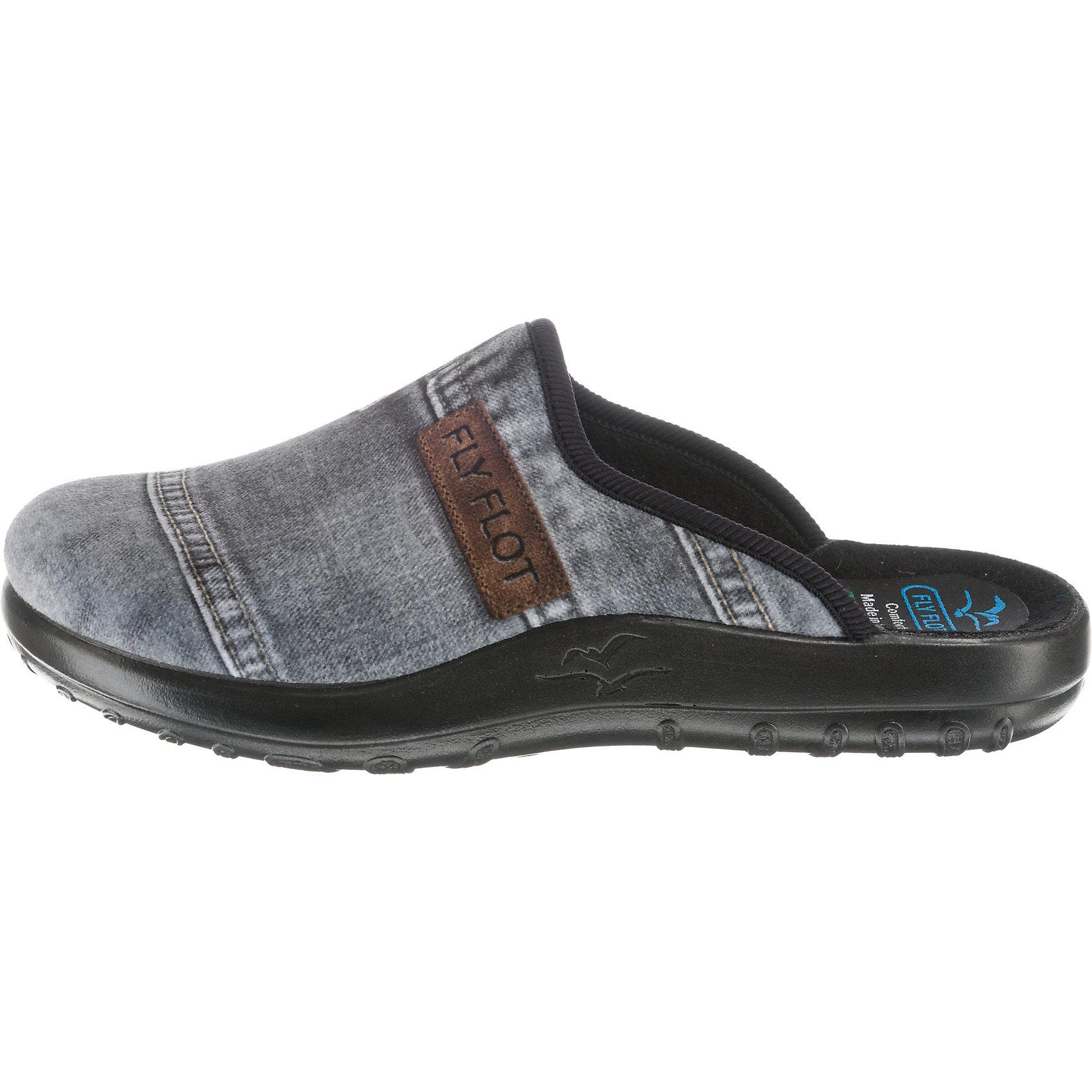 Neu FLY FLOT Pantoffeln 8823158 für Damen grau