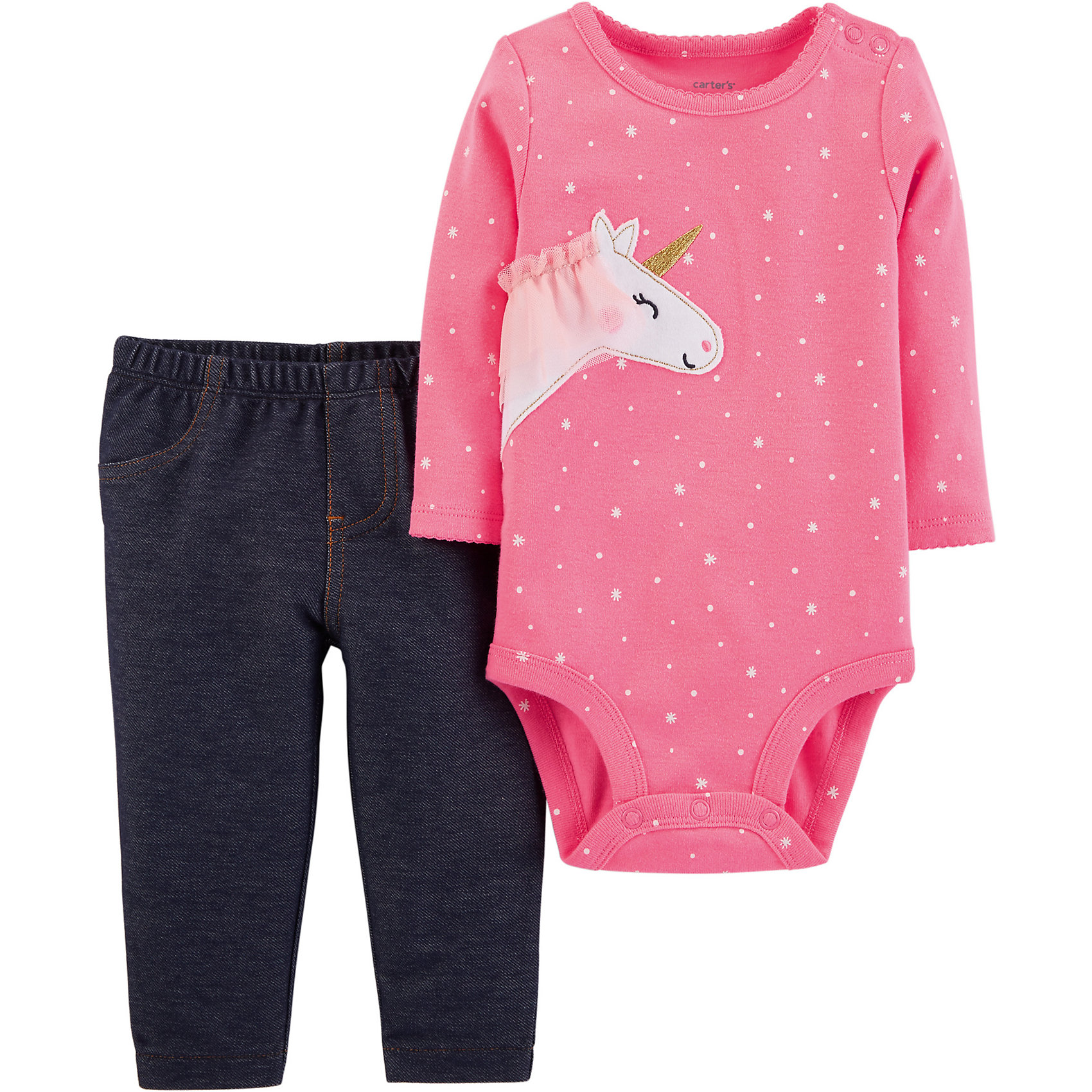 Neu carter`s Baby Set  Langarmbody Jerseyhose für Mädchen 8825545 für Mädchen