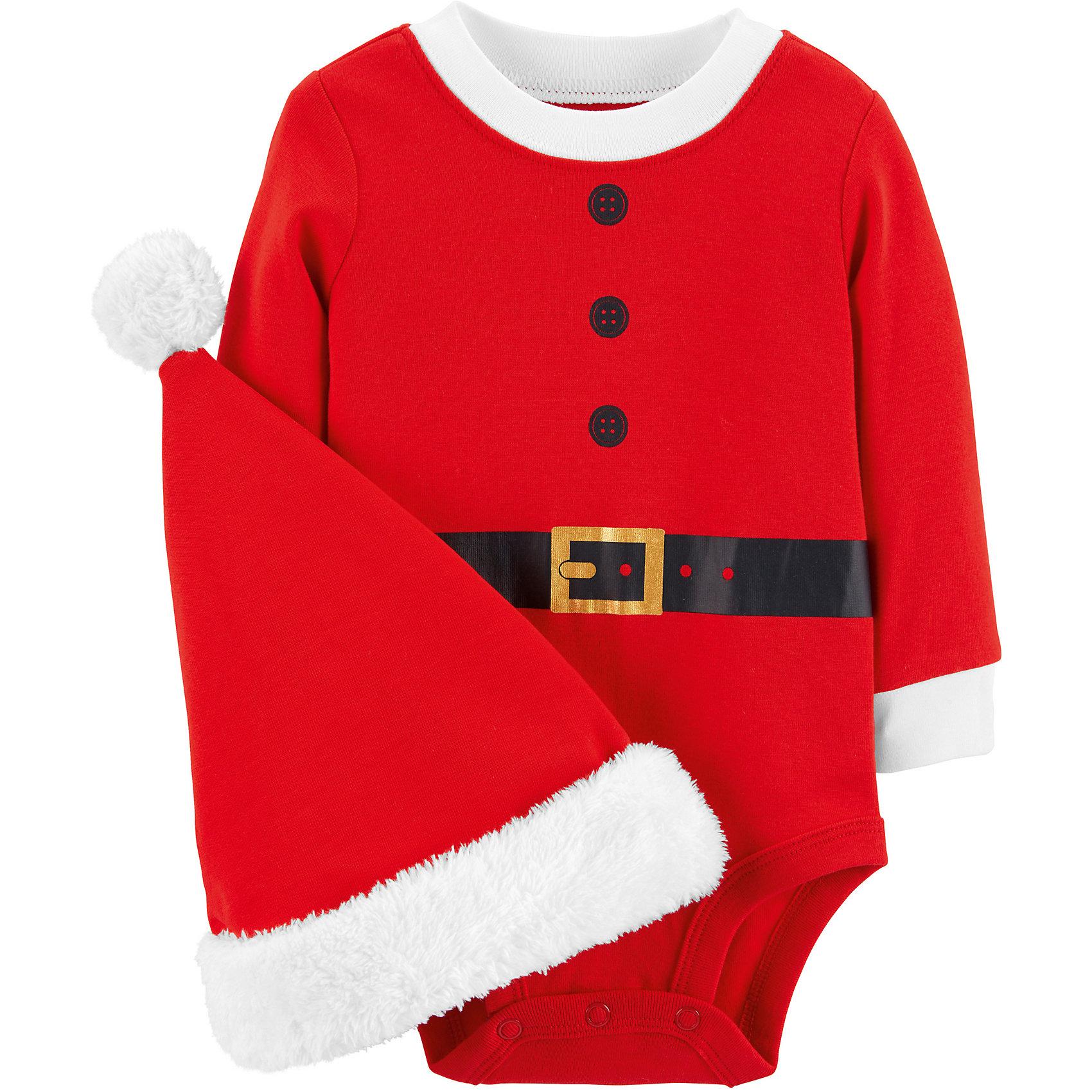 Neu carter`s Langarmbody Weihnachten mit Mütze 8825909 für Jungen und Mädchen