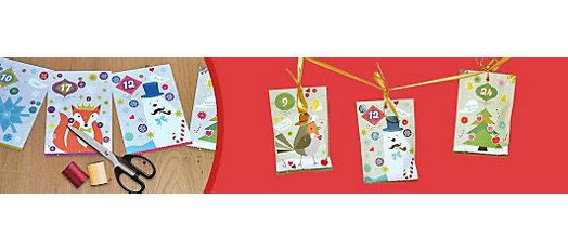 Adventskalender basteln aus Geschenktüten
