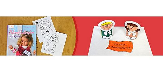 Adventskalender basteln aus Vorlagen - der Eskimo Kindergarten