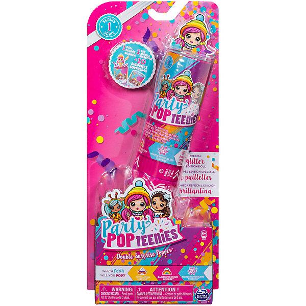 """Купить со скидкой Игровой набор Spin Master """"Party Popteenies"""" Хлопушка с сюрпризом, 2 куклы"""
