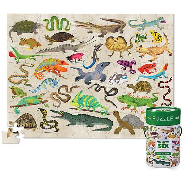 Crocodile Creek Пазл Crocodile Creek 36 животных Рептилиии и земноводные, 100 элементов