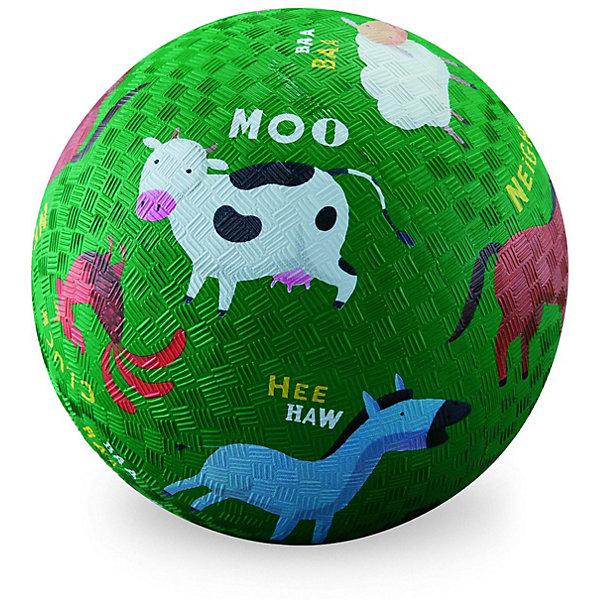 Мяч Crocodile Creek Ферма, 13 смИгровые мячи<br>Характеристики товара:<br><br>• возраст: от 3 лет<br>• материал: каучук<br>• диаметр: 13 см.<br>• вес: 130 гр.<br>• страна бренда: США<br><br>Мяч изготовлен из жесткого, натурального каучука с текстурированной поверхностью. Рисунок мяча красочен, все детали изображения хорошо прорисованы. Мяч можно использовать и в помещении, и на открытом воздухе