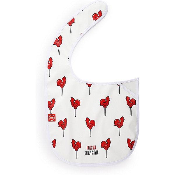 Happy Baby Нагрудный фартук на липучке Happy Baby candy, /красный happy baby игровой надувной цилиндр gymex happy baby