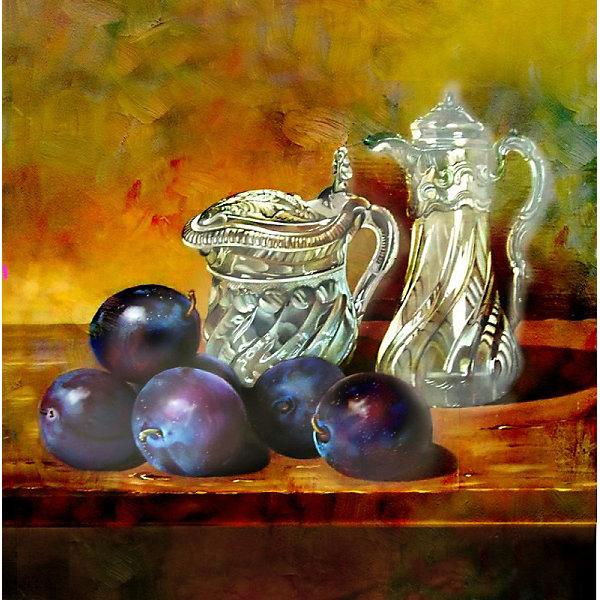 Color KIT Алмазная картина-раскраска Натюрморт со сливами, 40х40 см