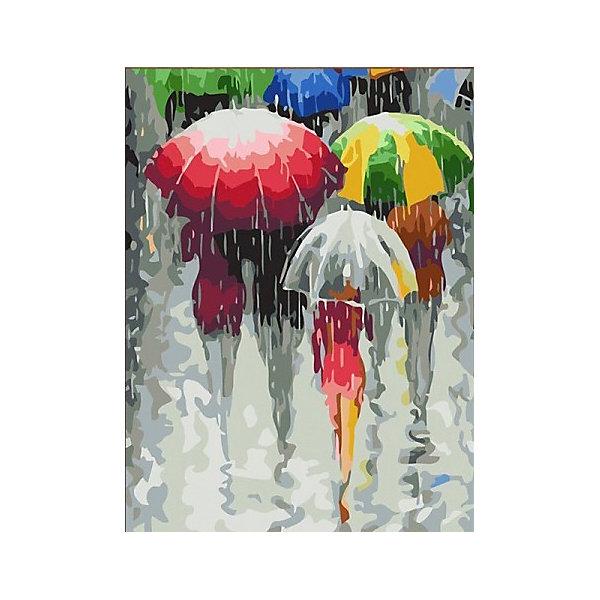 Color KIT Картина по номерам Зонтики, 30х40 см