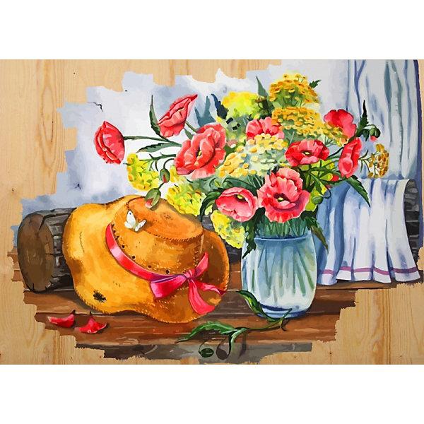 Color KIT Картина по номерам на дереве Color KIT Соломенная шляпка, 40х50 см картины постеры гобелены панно картины в квартиру картина бесконечность линий 35х35 см