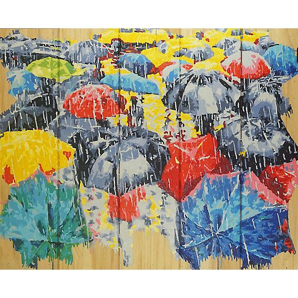 Color KIT Картина по номерам на дереве Color KIT Осенний блюз, 40х50 см картины постеры гобелены панно картины в квартиру картина бесконечность линий 35х35 см