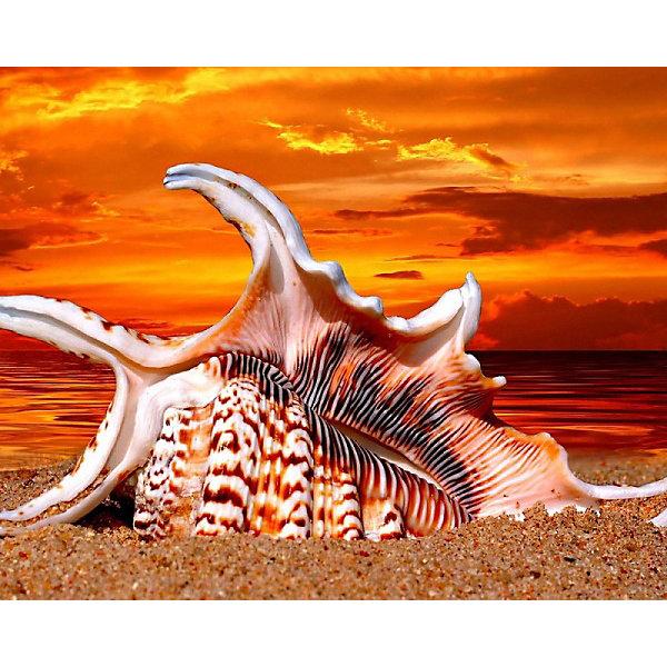 Color KIT Алмазная картина-раскраска Жаркий закат, 40х50 см