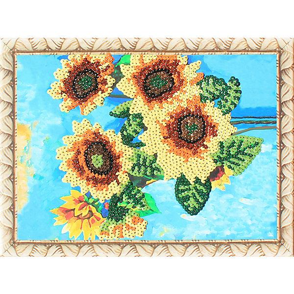 Color KIT Картина из пайеток Color KIT Подсолнухи, 30х40 см color kit набор для вышивания бисером color kit дыхание весны 30х40 см