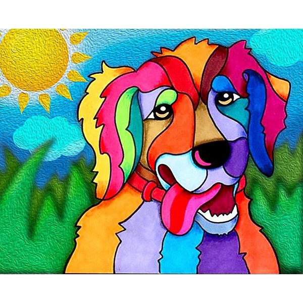Color KIT Алмазная мозаика Color KIT Солнечный пёс, 17х21 см мозаика алмазная ирисы 13470