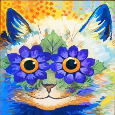 Картина по номерам Color KIT  Цветочный кот , 30х30 см, артикул:10006578 - Картины по номерам
