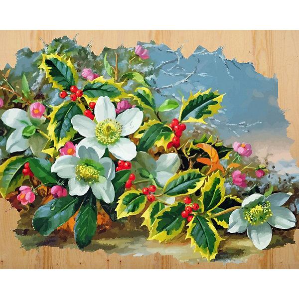 Картина по номерам на дереве Color KIT Морозный букет , 40х50 см, Россия, разноцветный, Унисекс  - купить со скидкой