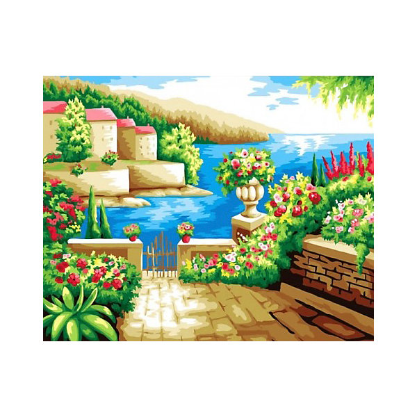 Color KIT Алмазная мозаика Средиземноморский пейзаж, 40х50 см