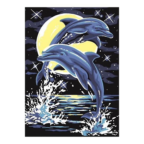 Color KIT Картина по номерам Лунные дельфины, 30х40 см