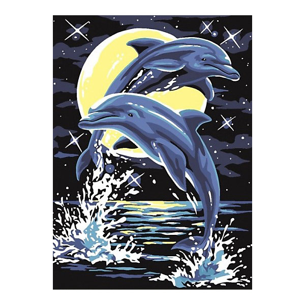 Color KIT Картина по номерам Color KIT Лунные дельфины, 30х40 см картина по номерам 80 x 120 см ra314