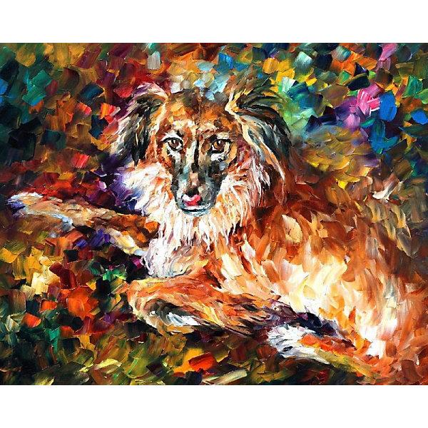 Color KIT Алмазная картина-раскраска Породистый пёс, 40х50 см