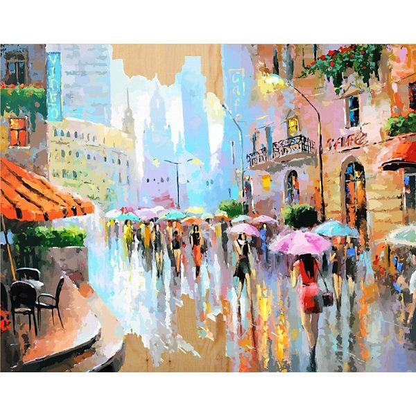 Купить Картина по номерам на дереве Color KIT Город в акварели , 40х50 см, Россия, разноцветный, Унисекс
