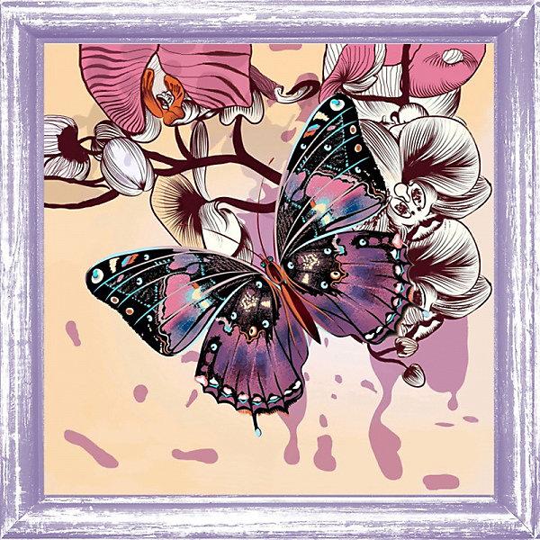 Color KIT Набор для вышивания бисером Бабочка, 30х30 см