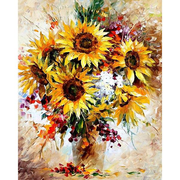 Color KIT Алмазная картина-раскраска Солнечный букет, 40х50 см