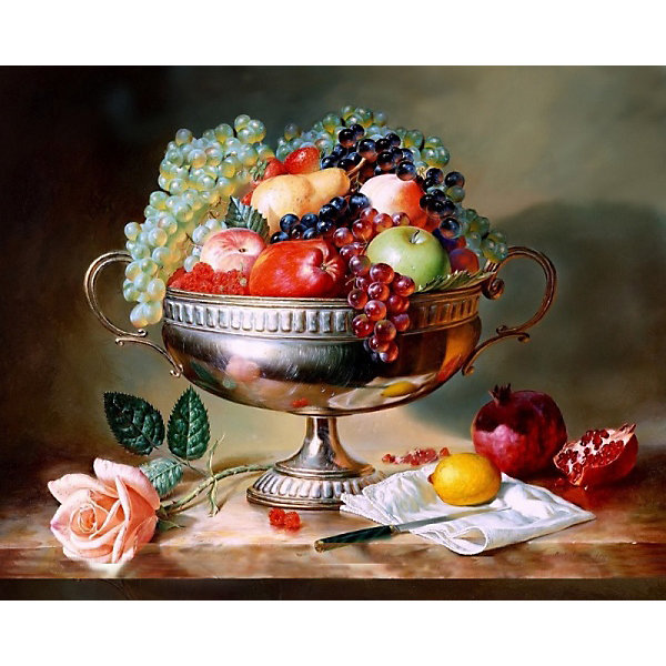 Color KIT Алмазная картина-раскраска Фруктовый натюрморт, 40х50 см