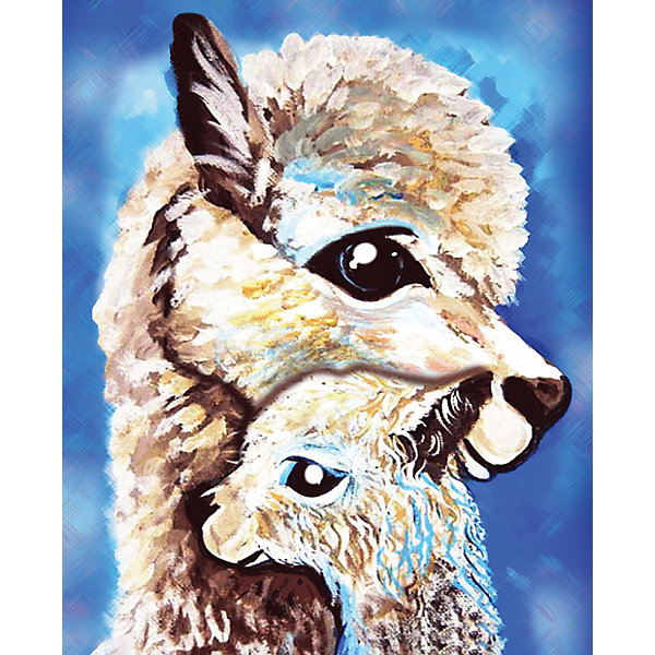 Color KIT Алмазная мозаика Color KIT Мама и дитя, 17х21 см schreiber алмазная мозаика по номерами ежик 20 20 см