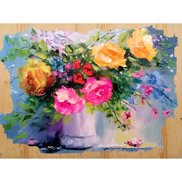 Color KIT Картина по номерам на дереве Color KIT Сочные краски, 40х50 см картины постеры гобелены панно картины в квартиру картина бесконечность линий 35х35 см