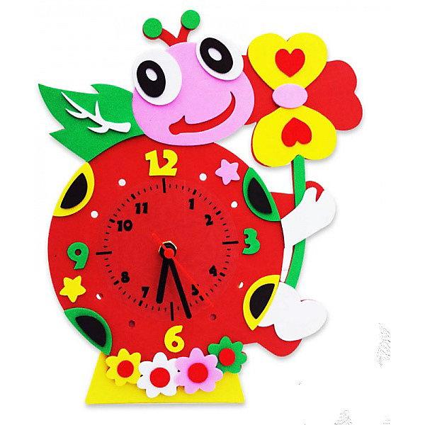 Купить Набор для творчества Color KIT Часы из фоамирана Божья коровка, 24х24 см, Россия, разноцветный, Унисекс