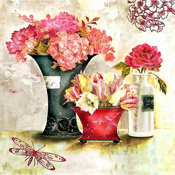 Color KIT Алмазная картина-раскраска Розовый аромат, 40х40 см