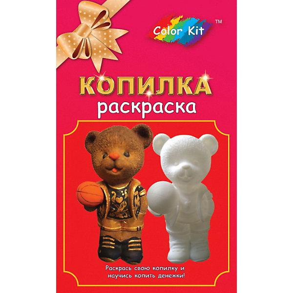 Color KIT Виниловая копилка-раскраска Медведь-баскетболист
