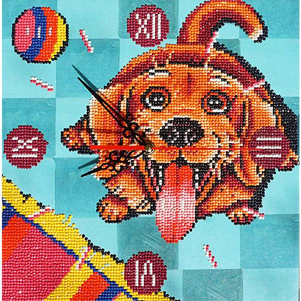 Color KIT Алмазная вышивка Алмазные часы Счастливый пёс, 30х30 см