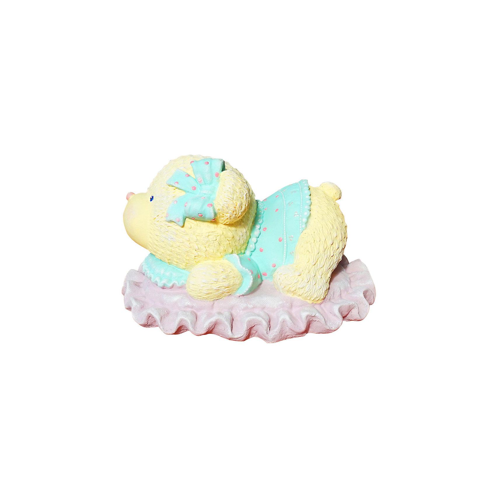Виниловая копилка-раскраска Color KIT Мишка на подушке 3