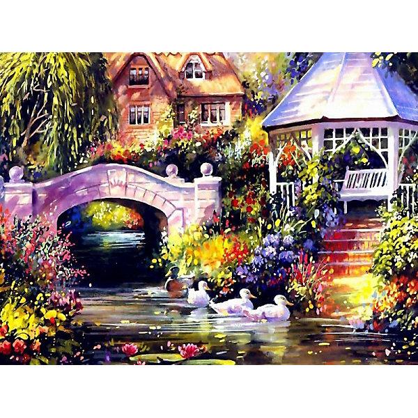 Купить Раскраска по номерам на картоне Color KIT Беседка у реки , 30х40 см, Россия, разноцветный, Унисекс