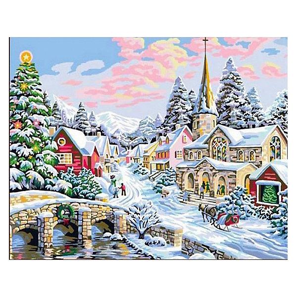 Купить Картина по номерам Color KIT Зима-сказка , 40х50 см, Россия, разноцветный, Унисекс