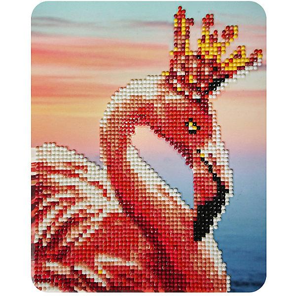 Color KIT Алмазная мозаика Color KIT Королевский фламинго, 17х21 см schreiber алмазная мозаика по номерами ежик 20 20 см
