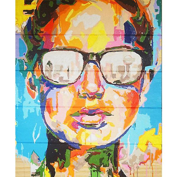 Color KIT Картина по номерам на дереве Color KIT Абстрактный портрет, 40х50 см картины постеры гобелены панно картины в квартиру картина бесконечность линий 35х35 см