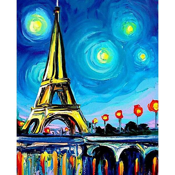 Color KIT Алмазная мозаика Color KIT Огни Парижа, 17х21 см schreiber алмазная мозаика по номерами ежик 20 20 см