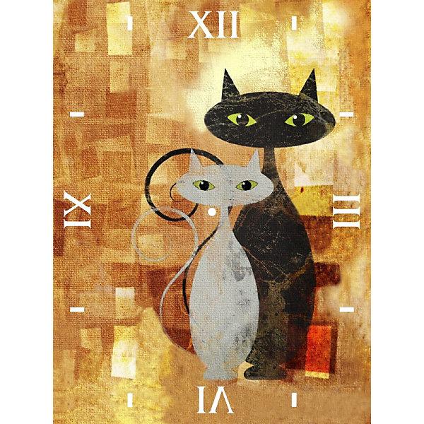 Color KIT Алмазная вышивка Color KIT Алмазные часы Влюблённые, 30х40 см алмазная вышивка корабль у берега рыжий кот 30х40 см