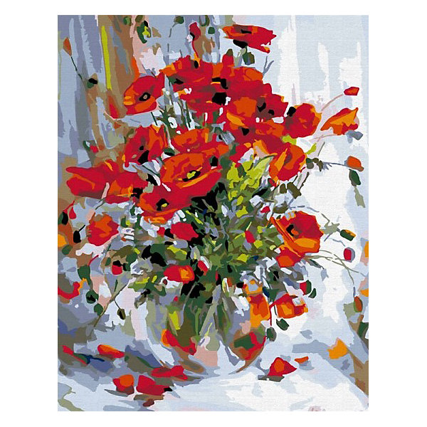 Фото - Color KIT Картина по номерам Color KIT Букет маков, 40х50 см color kit алмазная картина раскраска color kit солнечный букет 40х50 см