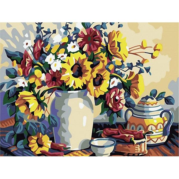 Купить Раскраска по номерам на картоне Color KIT Натюрморт с подсолнухами , 30х40 см, Россия, разноцветный, Унисекс
