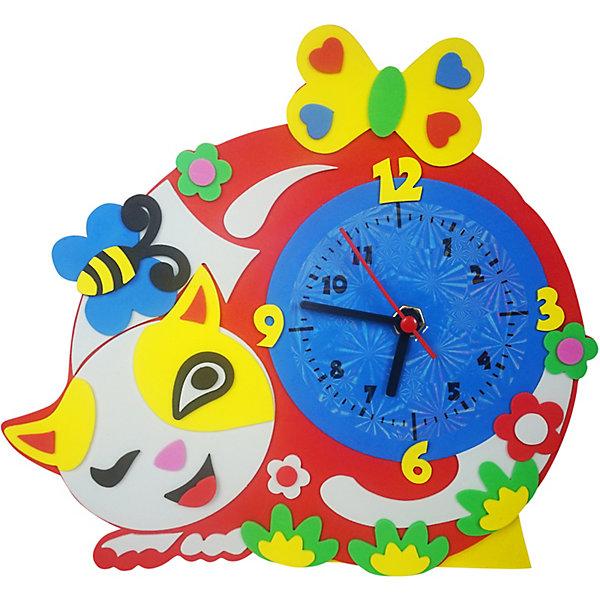 Купить Набор для творчества Color KIT Часы из фоамирана Котик, 24х24 см, Россия, разноцветный, Унисекс
