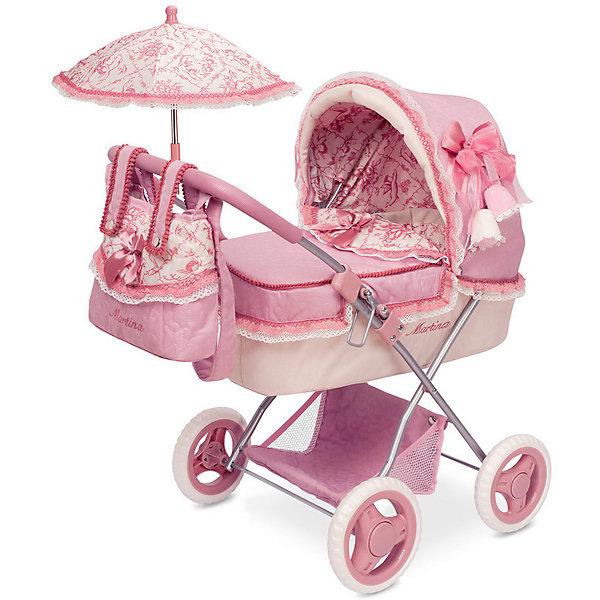 DeCuevas Коляска для кукол DeCuevas Мартина с сумкой и зонтиком, 60 см decuevas коляска для куклы романтик с сумкой и зонтом цвет розовый 65 см