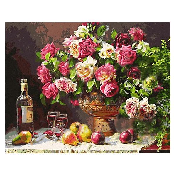 Купить Картина по номерам Color KIT Натюрморт с розами , 40х50 см, Россия, разноцветный, Унисекс