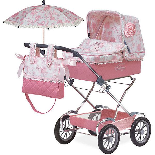 DeCuevas Коляска для кукол DeCuevas Даниэла с сумкой и зонтиком, 90 см decuevas коляска для куклы романтик с сумкой и зонтом цвет розовый 65 см