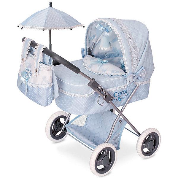 DeCuevas Коляска для кукол DeCuevas Кэрол с сумкой и зонтиком, 60 см decuevas коляска для куклы романтик с сумкой и зонтом цвет розовый 65 см