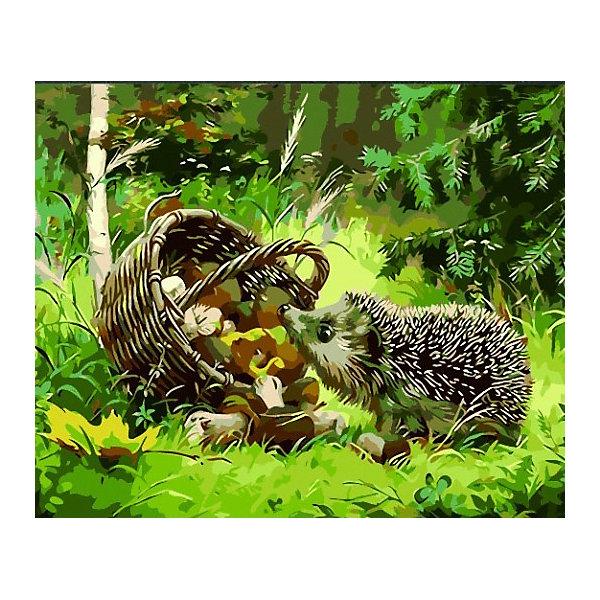 Купить Картина по номерам Color KIT Ёжик , 40х50 см, Россия, разноцветный, Унисекс