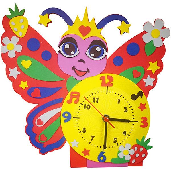Купить Набор для творчества Color KIT Часы из фоамирана Бабочка, 24х24 см, Россия, разноцветный, Унисекс