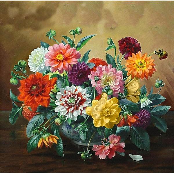 Color KIT Алмазная картина-раскраска Пёстрый букет, 40х40 см