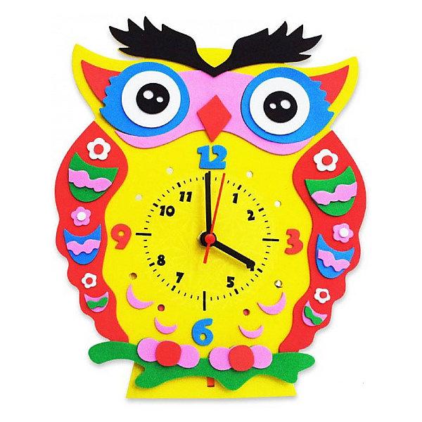 Купить Набор для творчества Color KIT Часы из фоамирана Сова, 24х24 см, Россия, разноцветный, Унисекс